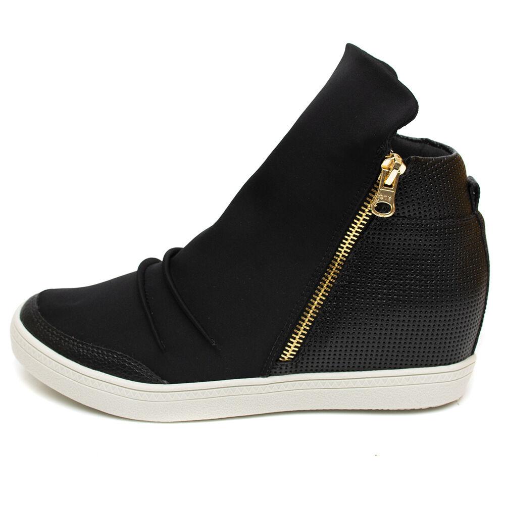Tênis Sneaker Orcade em Couro Neoprene Preto