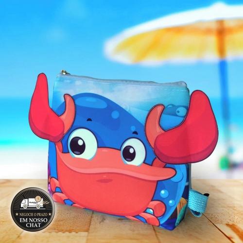Bolsa Caranguejo Fundo do Mar Personalizada Térmica - Lembrancinha de Aniversário