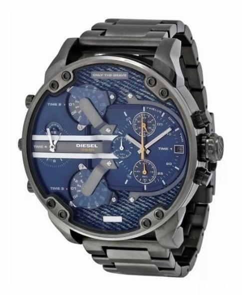 Relógio Diesel 3 BAR - Mr. Daddy 2.0 Masculino Cinza e Azul Dz7331