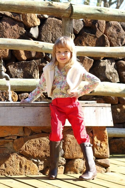 Bombacha Feminina Infantil Castelhana