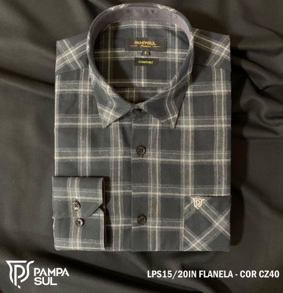 Camisa Pampa Sul Masculina Xadrez Tecido Flanela