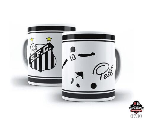 Caneca Branca Futebol Santos