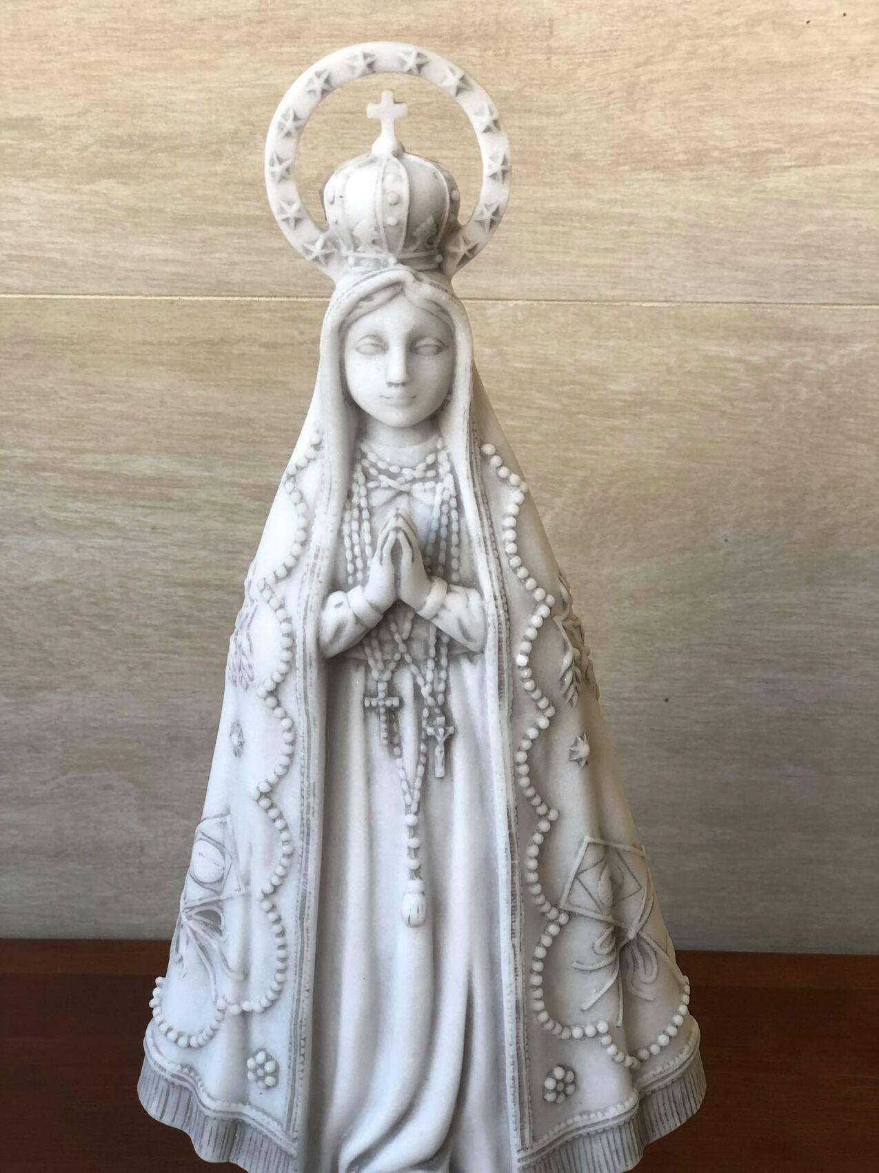 Nossa Senhora Aparecida - 32 cm - Mármore.