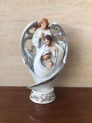 Sagrada Família com Anjo - 30 cm - Resina Importada