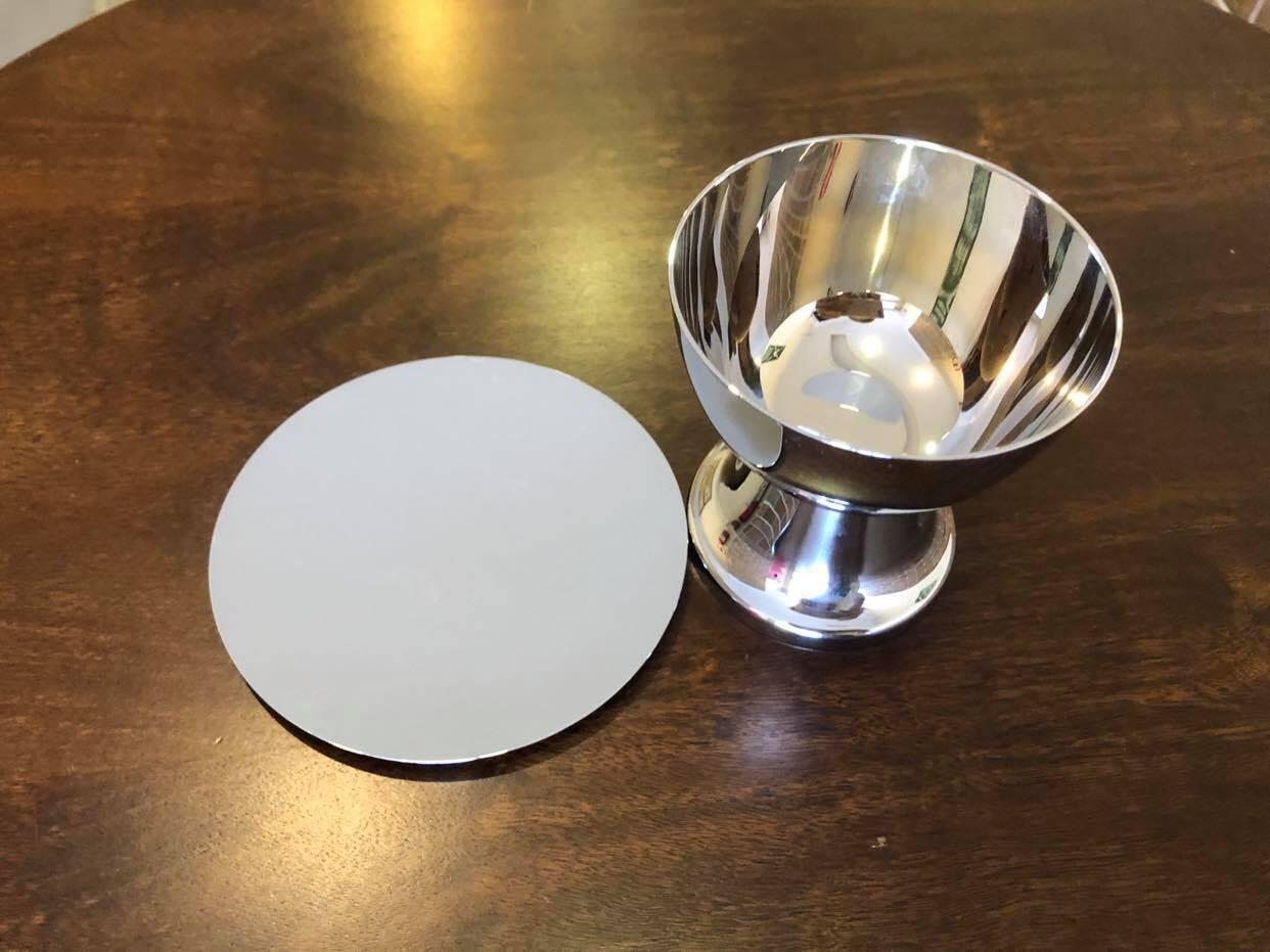 Cálice com Patena cromo total - 10cm