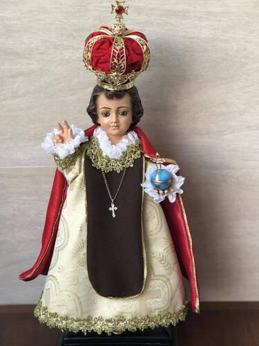 Menino Jesus de Praga - Olho de Vidro - 47cm - Resina