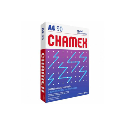 Papel Sulfite A4 90g Super Chamex Office com 500 Folhas