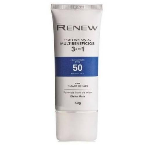 Avon Renew Protetor Facial Multibenefícios FPS 50 - 50gr