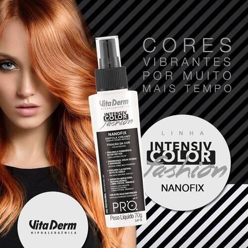 Vita Derm Ampola Nanofix Intensiv Color Fashion Fixação Da Cor 70g