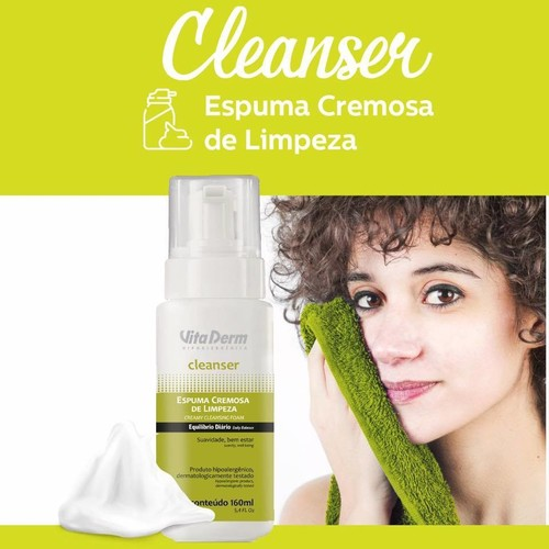 Vita Derm Cleanser Espuma Cremosa de Limpeza 160 g
