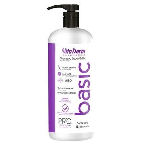 Vita Derm Pro Basic Shampoo Super Brilho 1 Litro