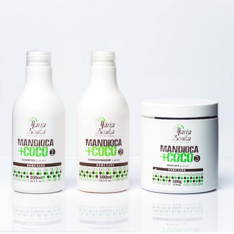 Maria Bonita Kit Hidratação Mandioca + Coco
