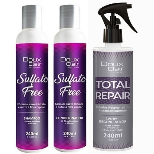Doux Clair Reconstrução Capilar Total Repair Kit