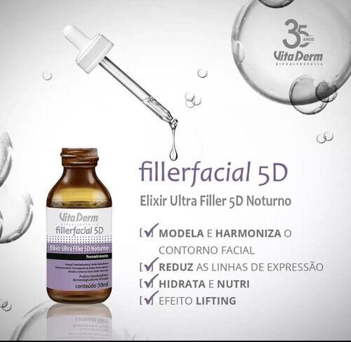 Vita Derm Elixir Ultra Filler Facial 5d Noturno 30ml